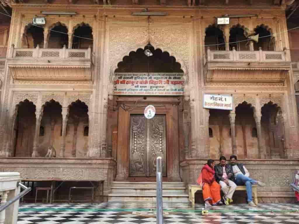 श्री बांके बिहारी जी मंदिर(banke bihari temple vrindavan)